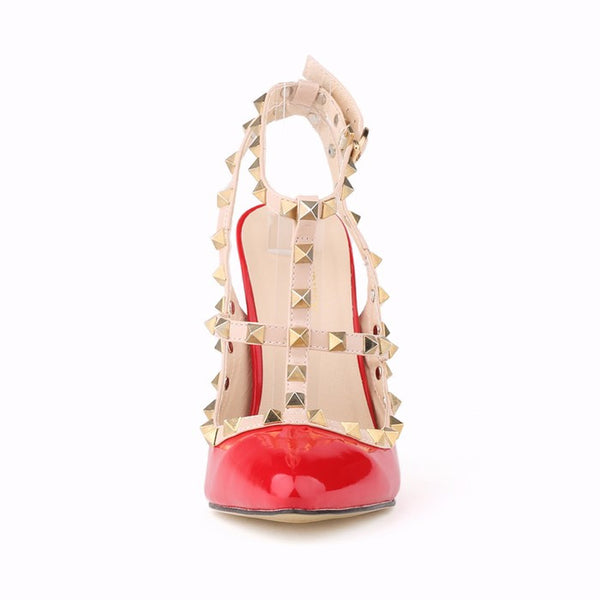 Pointy Studded 9cm High Heels