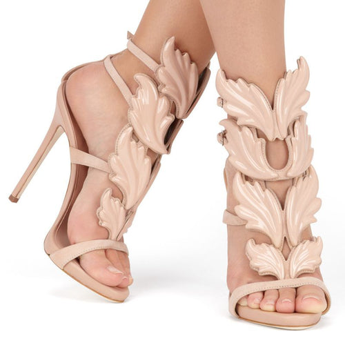 Angel Wings Gladiator High Heels