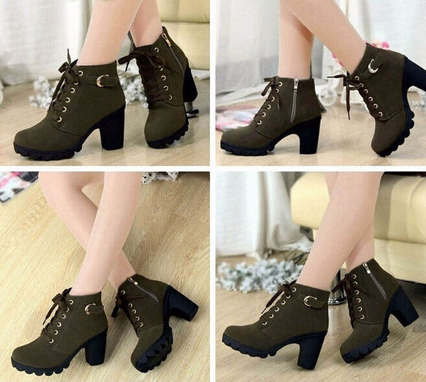 Casual Lace-up Booties