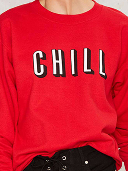 Chill Red Long Sleeve Shirt