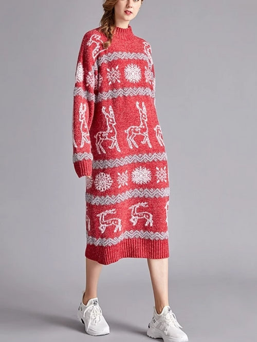 Reindeer Long Christmas Sweater