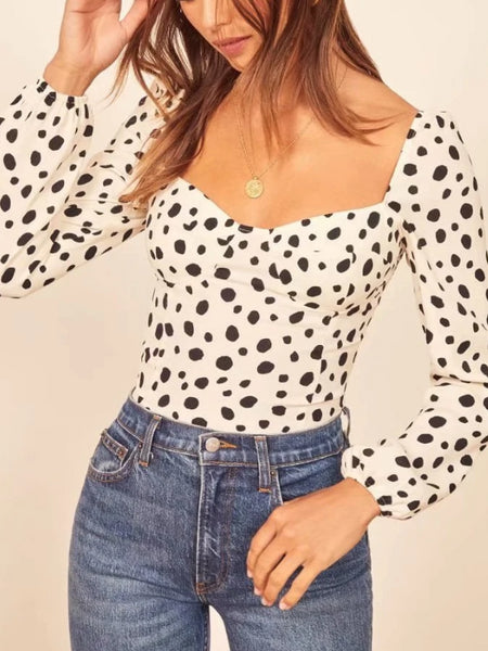 Retro Polka Dot Blouse