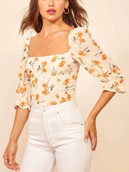 Yellow Flowers Flare Top