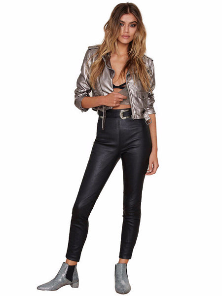 Faux Leather Punk Jacket