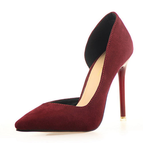 Faux Suede Sexy Pumps