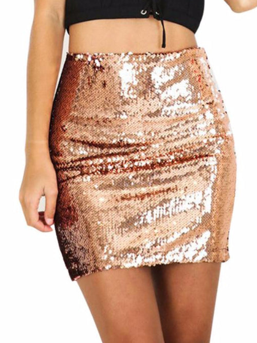 Sequins Shine Mini Skirt