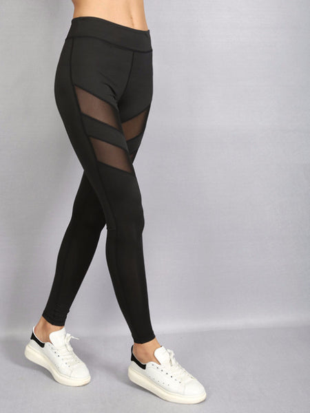 Double Mesh Stripe Leggings