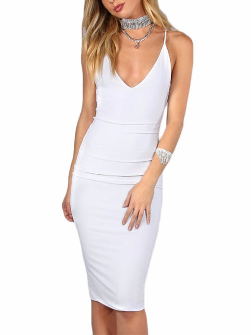 Ivory Brief Cami Pencil Dress