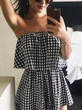 Gingham Tube Playsuit