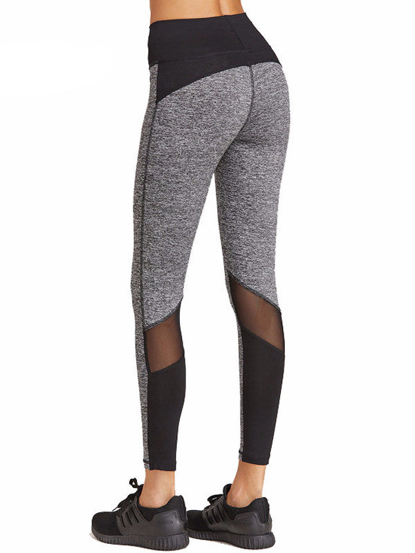 d37e6c944900a Black And Grey Mesh Legging | SilkOverMilk
