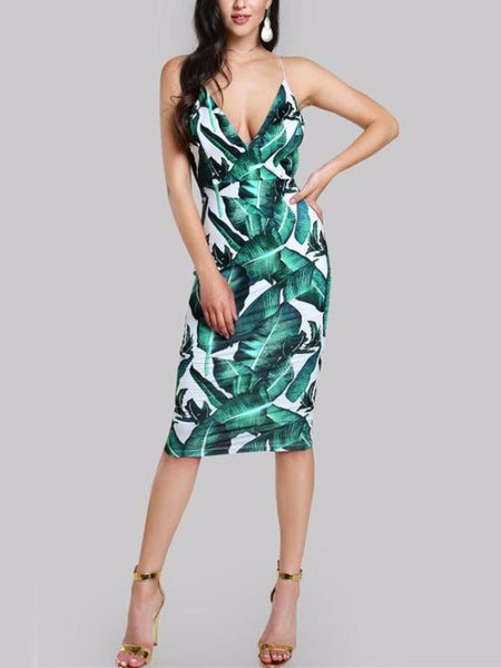 Fall Leaves Midi Dress