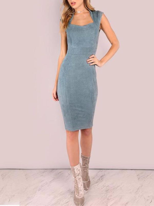 Sweetheart Suede Dress