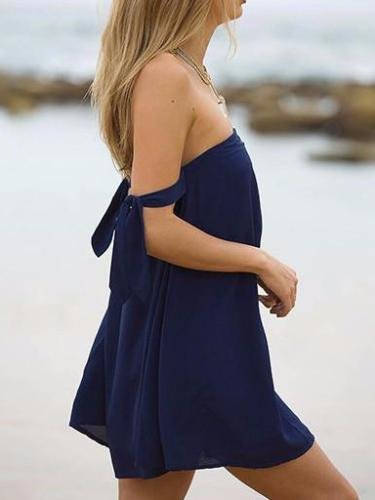 Off Shoulder Mini Tube Dress