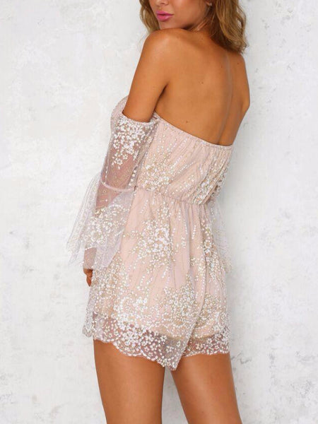 Glitter Two Way Halter Playsuit