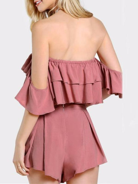 Mauve Ruffles Two Piece Set