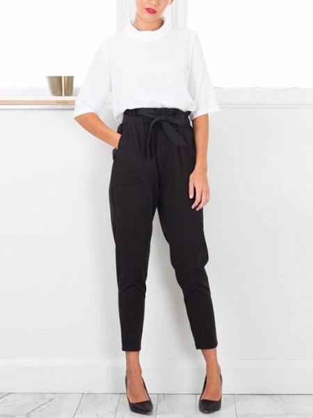 Pleated High Waist Pants