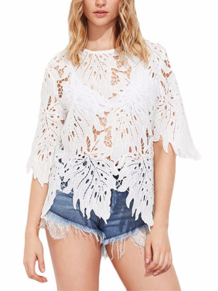 Cut Out Lace Blouse