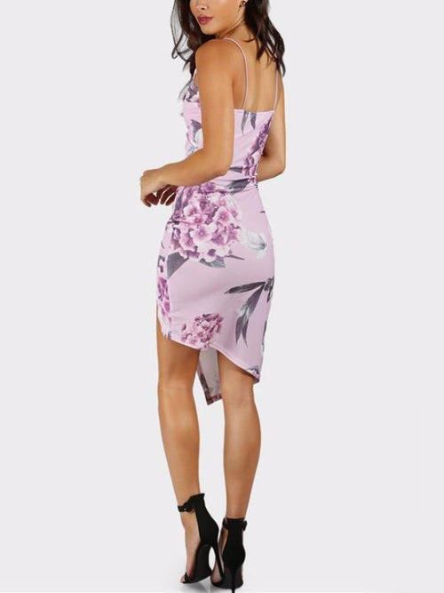 Lavender Asymmetrical Dress