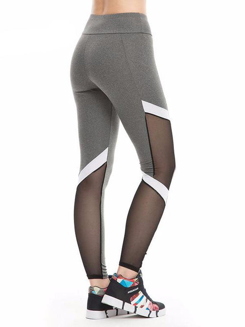 Contrast Stripe Mesh Leggings