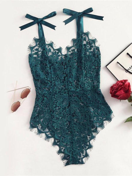Sexy Lace Grid Bodysuit