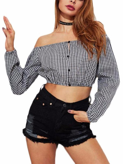 Gingham Country Blouse