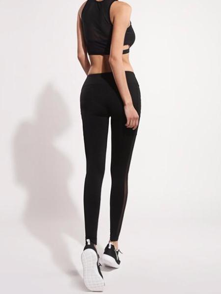 Side Pocket Mesh Leggings
