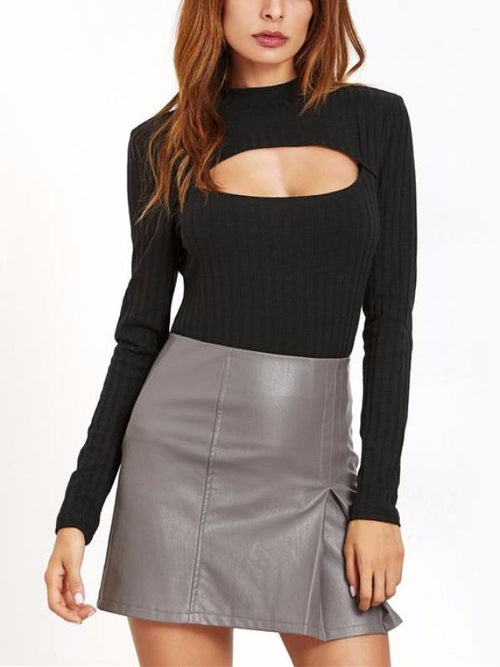 Cut Out Long Sleeve Top