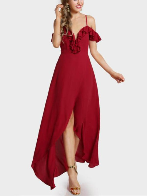 Red Sweetheart Maxi Dress