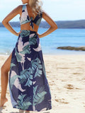 Leafy M Split Maxi Dress