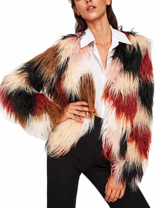 Bold Faux Fur Coat
