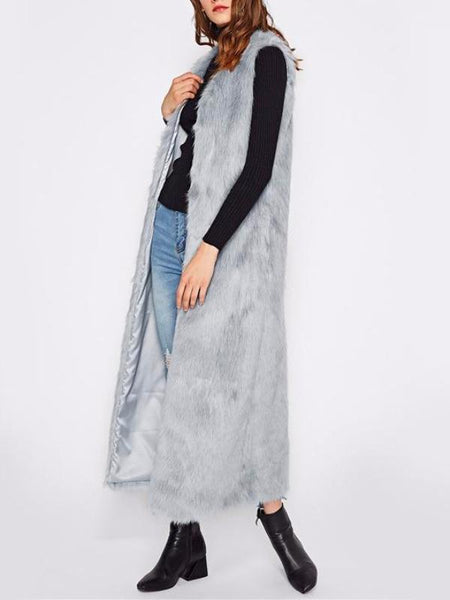 Faux Fur Long Vest