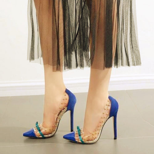 Transparent Rivets Stilettos