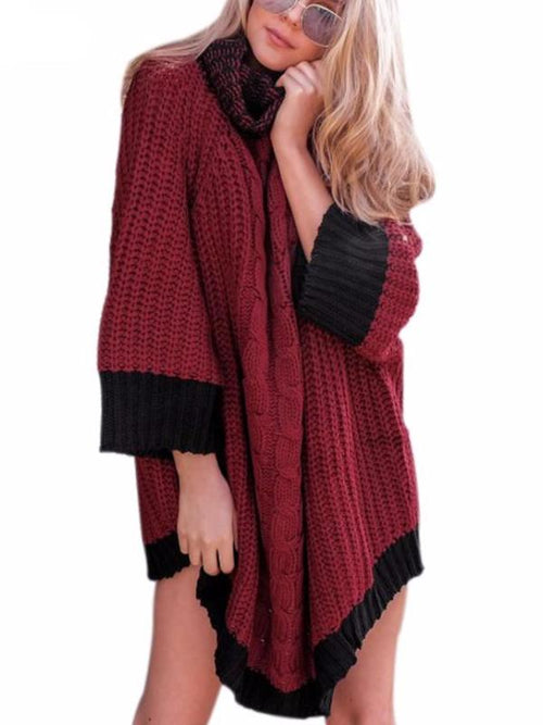 Oversize 2 Tone Knitted Pullover
