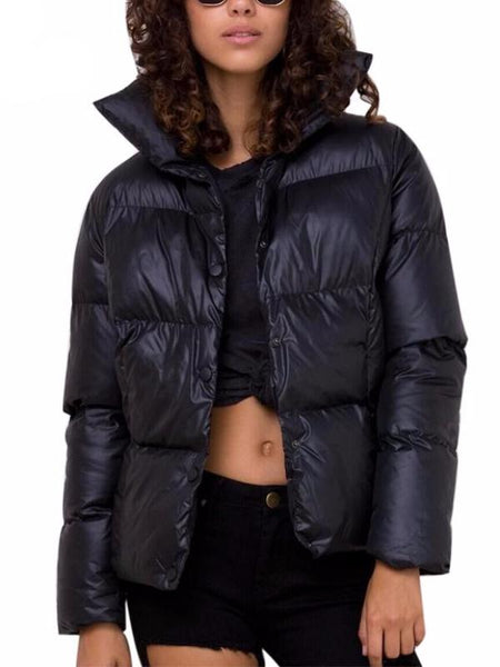 Black Puffy Winter Jacket