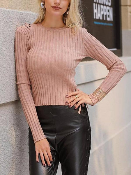 Mini Laced Ribbed Sweater