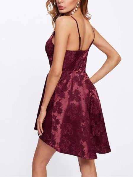 Jacquard Satin Mini Dress