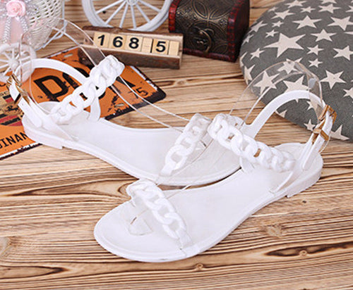 Plastic Chain Jelly Sandals