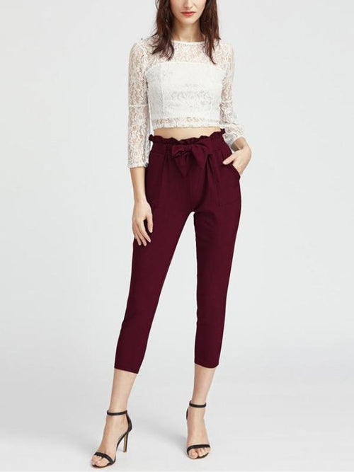 Burgundy Capri Pants