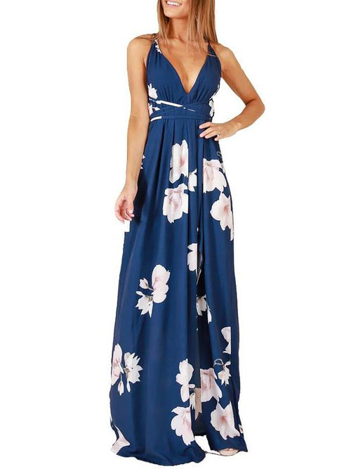 Midnight Sakura Maxi Dress