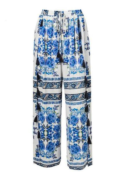 Porcelain Wrap Pants