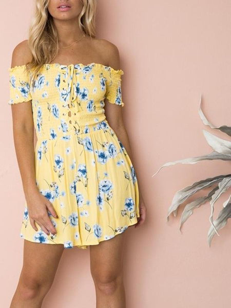 Daffodil Off Shoulder Playsuit