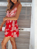 Red Boho Mini Tier Dress