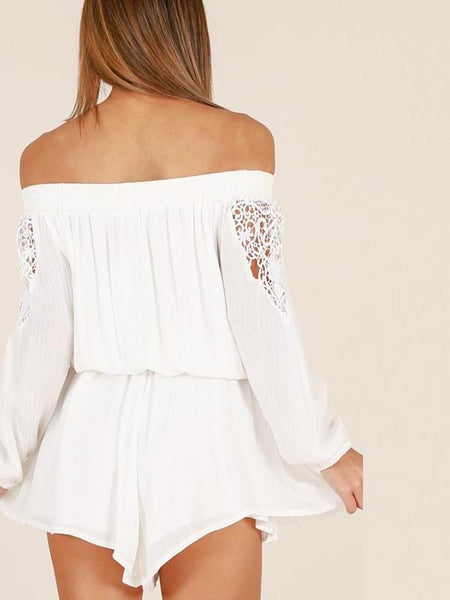Lacy Off Shoulder Playsuit