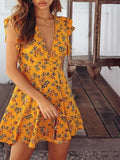 Dijon Floral Mini Wrap Dress