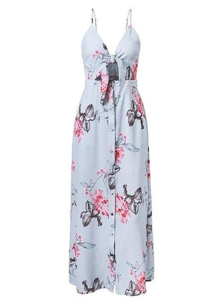 Periwinkle Floral Maxi Dress