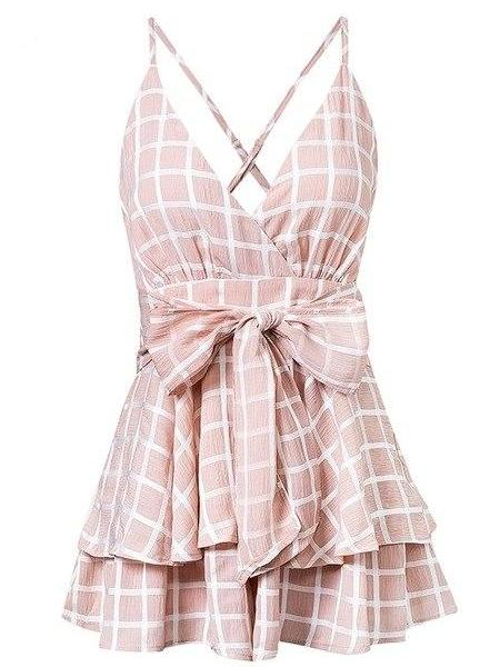 Checkered Tier Playsuit