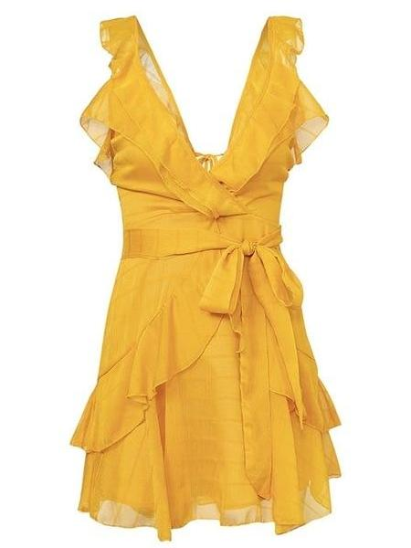 Ruffle Flare Mini Dress