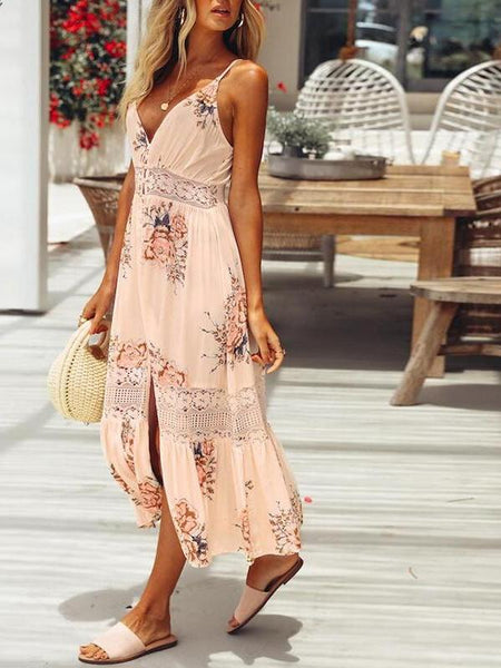 Button Down Floral Dress