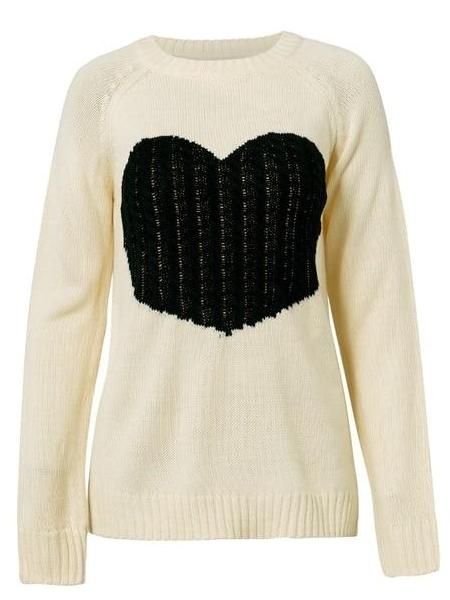 Heart Knit Sweater