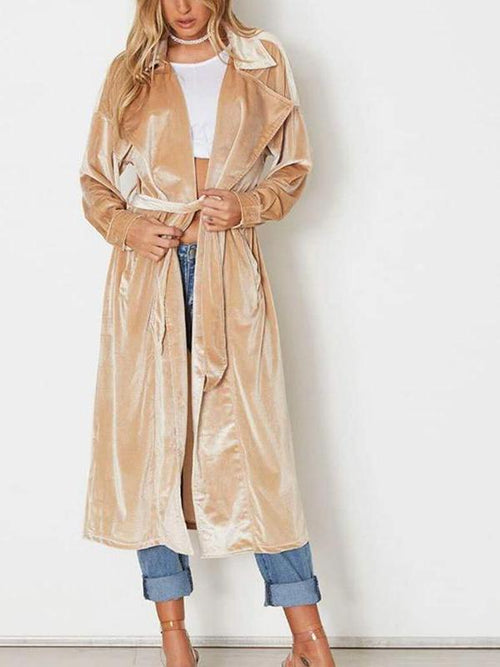Velour Long Coat